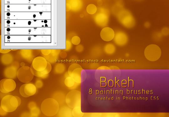 40 Free Beautiful Photoshop Bokeh Brushes 8