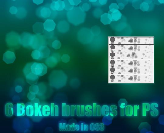 40 Free Beautiful Photoshop Bokeh Brushes 9