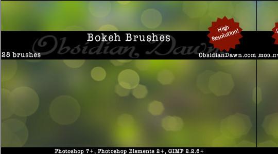 40 Free Beautiful Photoshop Bokeh Brushes 19