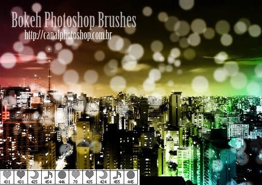 40 Free Beautiful Photoshop Bokeh Brushes 10