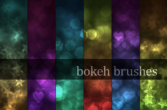 40 Free Beautiful Photoshop Bokeh Brushes 7