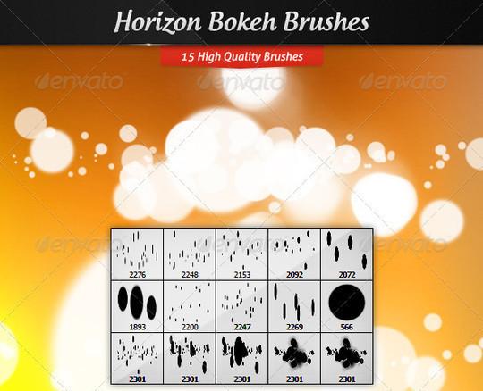 40 Free Beautiful Photoshop Bokeh Brushes 23