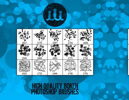 40 Free Beautiful Photoshop Bokeh Brushes 37