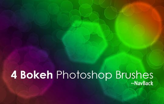 40 Free Beautiful Photoshop Bokeh Brushes 4