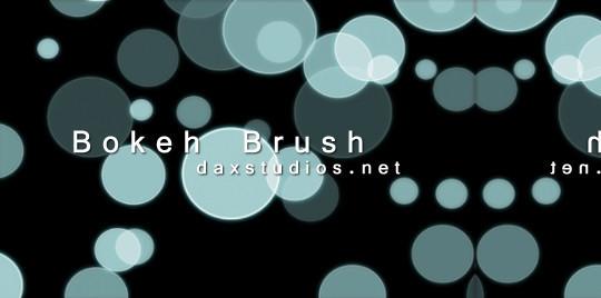 40 Free Beautiful Photoshop Bokeh Brushes 40