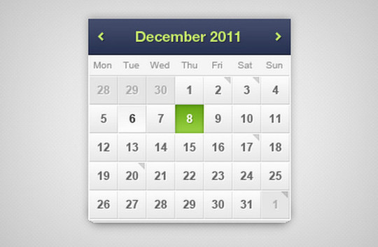40 Useful And Free Calendar Designs In PSD Format 16