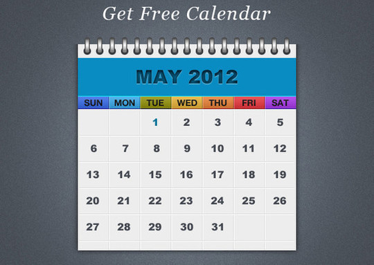 40 Useful And Free Calendar Designs In PSD Format 19