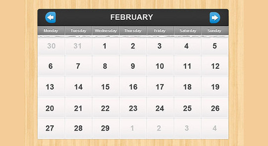 40 Useful And Free Calendar Designs In PSD Format 21