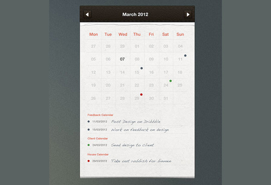 40 Useful And Free Calendar Designs In PSD Format 25