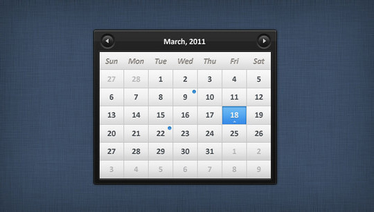 40 Useful And Free Calendar Designs In PSD Format 7