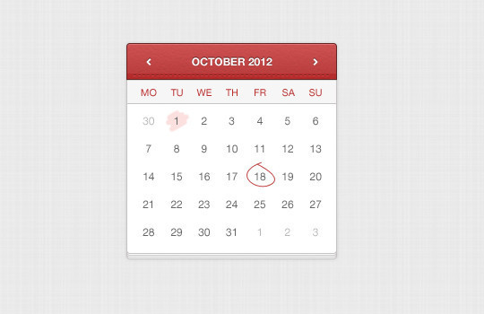 40 Useful And Free Calendar Designs In PSD Format 29