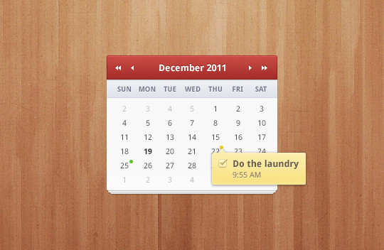 40 Useful And Free Calendar Designs In PSD Format 30