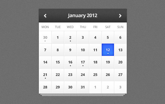 40 Useful And Free Calendar Designs In PSD Format 32