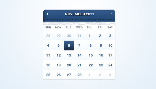 40 Useful And Free Calendar Designs In PSD Format 33