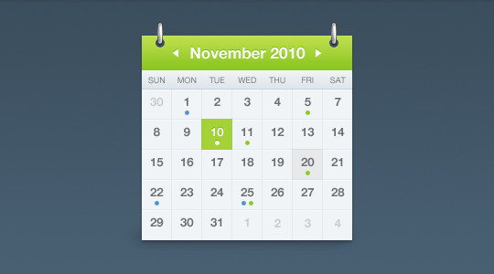 40 Useful And Free Calendar Designs In PSD Format 4