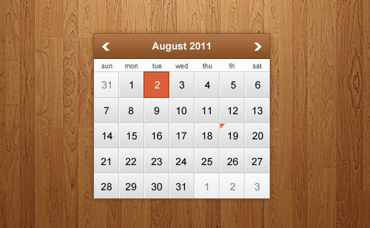 40 Useful And Free Calendar Designs In PSD Format 13