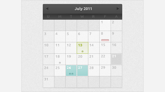 40 Useful And Free Calendar Designs In PSD Format 38