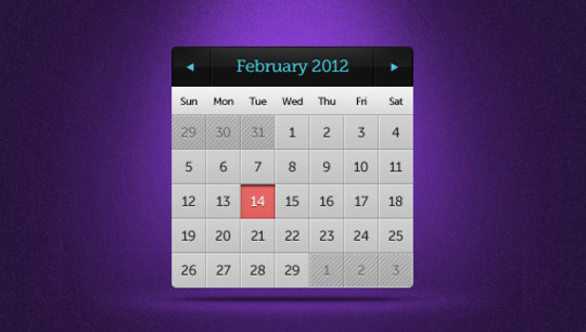 40 Useful And Free Calendar Designs In PSD Format 3