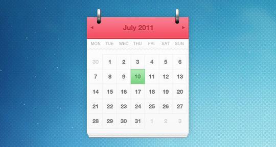 40 Useful And Free Calendar Designs In PSD Format 14