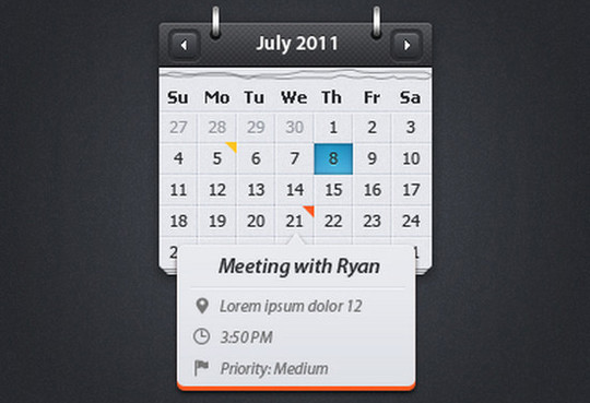 40 Useful And Free Calendar Designs In PSD Format 9