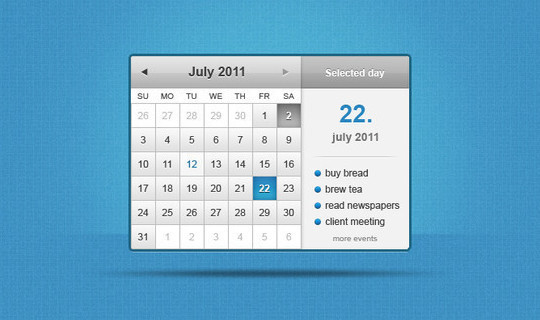 40 Useful And Free Calendar Designs In PSD Format 2