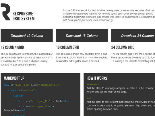 16 Useful Responsive CSS Frameworks And Boilerplates 5