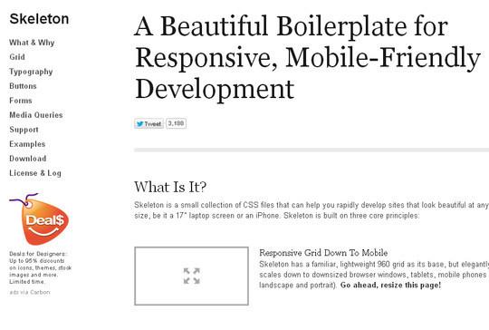 16 Useful Responsive CSS Frameworks And Boilerplates 8