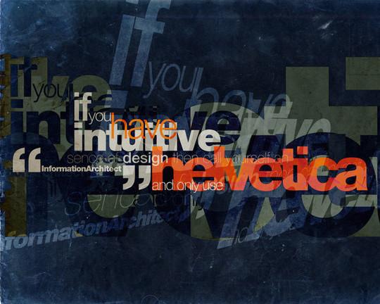 Astonishing Helvetica Typographic Poster Design 3