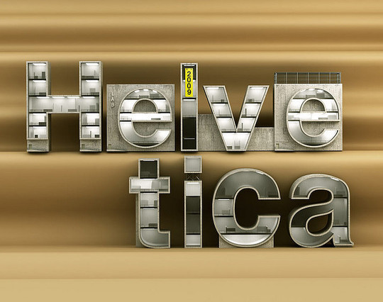 Astonishing Helvetica Typographic Poster Design 2