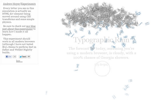 16 Ridiculously Impressive CSS3 & HTML5 Experiments 14