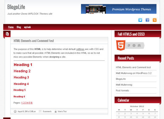 35 Free HTML5 WordPress Themes For Your Blog 12