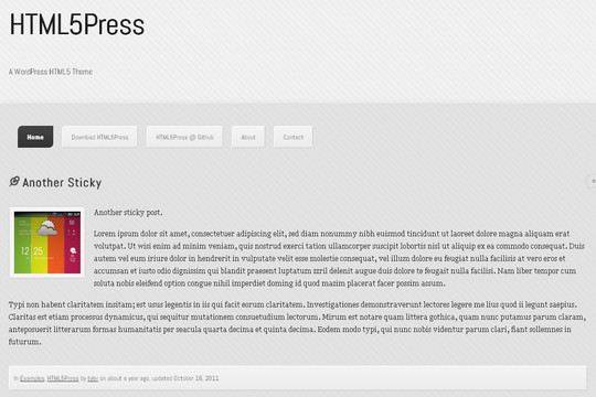 35 Free HTML5 WordPress Themes For Your Blog 23