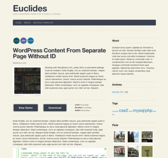 35 Free HTML5 WordPress Themes For Your Blog 27