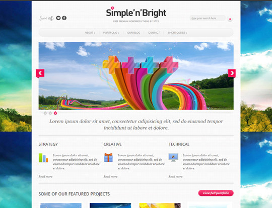 35 Free HTML5 WordPress Themes For Your Blog 26