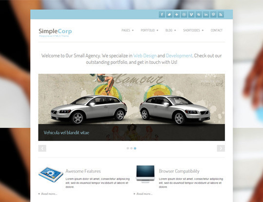 35 Free HTML5 WordPress Themes For Your Blog 13