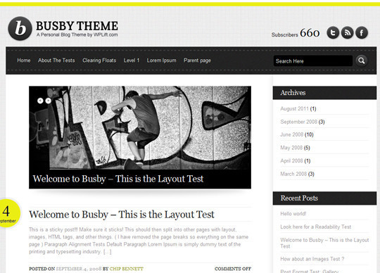 35 Free HTML5 WordPress Themes For Your Blog 34