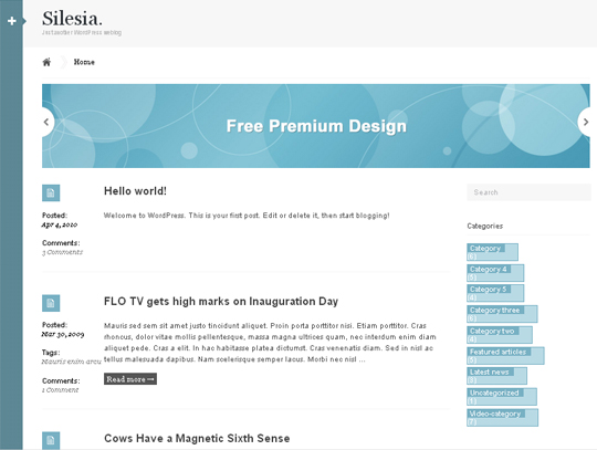 35 Free HTML5 WordPress Themes For Your Blog 35