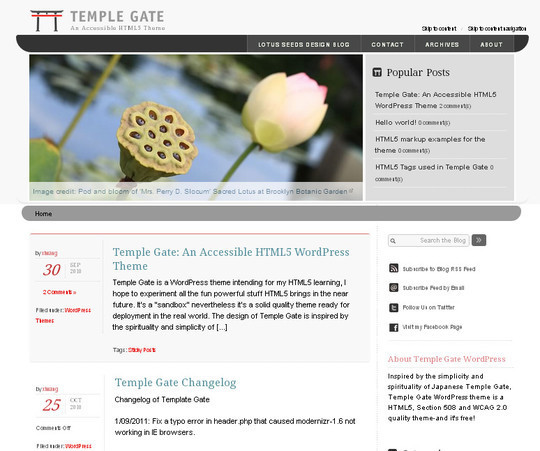 35 Free HTML5 WordPress Themes For Your Blog 7