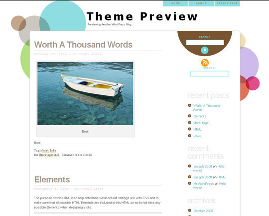 35 Free HTML5 WordPress Themes For Your Blog 14