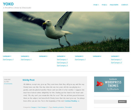 35 Free HTML5 WordPress Themes For Your Blog 16