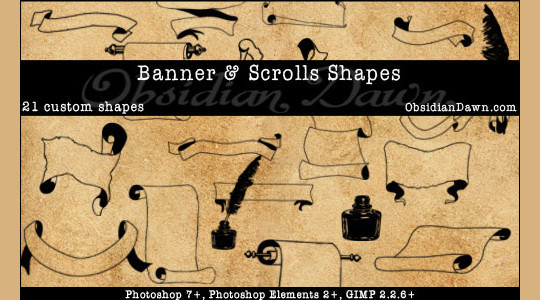 25 Useful Free Photoshop Custom Shape Sets 22
