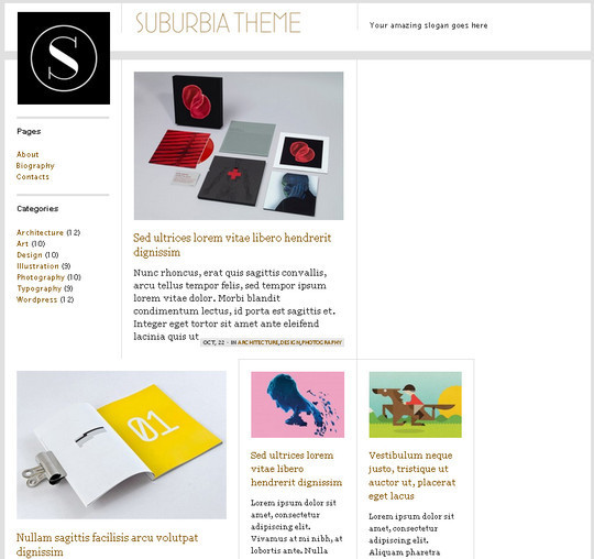Collection of Free And Premium WordPress Themes With Grid Layouts 10
