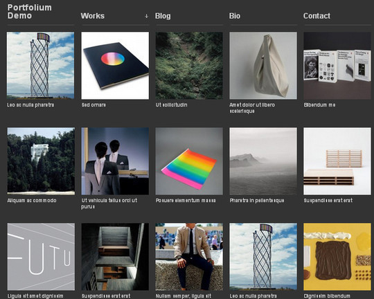 Collection of Free And Premium WordPress Themes With Grid Layouts 11