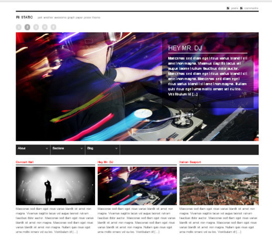 Collection of Free And Premium WordPress Themes With Grid Layouts 16