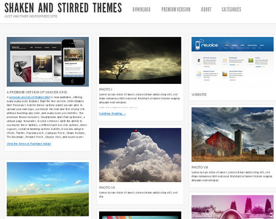 Collection of Free And Premium WordPress Themes With Grid Layouts 18