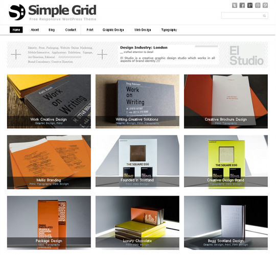 Collection of Free And Premium WordPress Themes With Grid Layouts 6