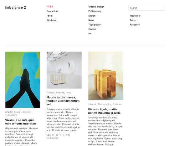 Collection of Free And Premium WordPress Themes With Grid Layouts 21