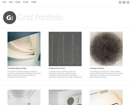 Collection of Free And Premium WordPress Themes With Grid Layouts 22