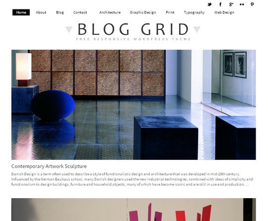 Collection of Free And Premium WordPress Themes With Grid Layouts 25