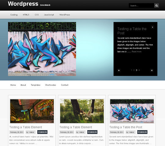 Collection of Free And Premium WordPress Themes With Grid Layouts 30